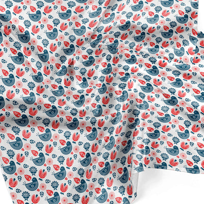 Banana Bandanas Ducks in a Row overripe dog bandana blue red duck pattern silk dog bandana Norwegian spread detail photo