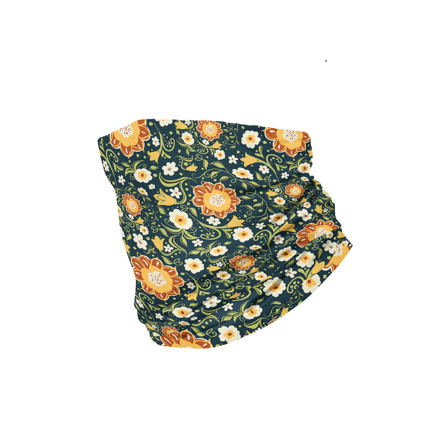 Banana Bandanas Flower Power headband green and yellow floral pattern headband flat photo