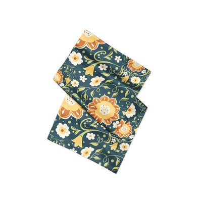Banana Bandanas Flower Power overripe dog bandana green and yellow floral pattern overripe dog bandana alternative photo