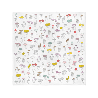 Banana Bandanas Forehead Forager bandana mushroom illustration flat photo