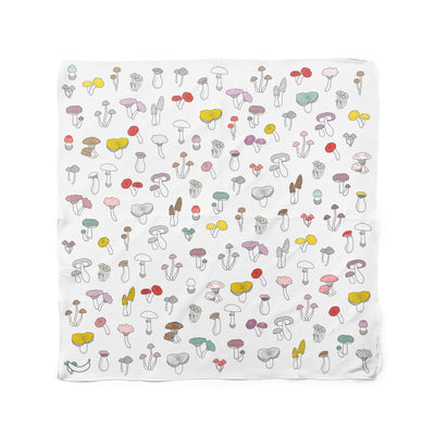 Banana Bandanas Forehead Forager dog bandana mushroom illustration flat photo