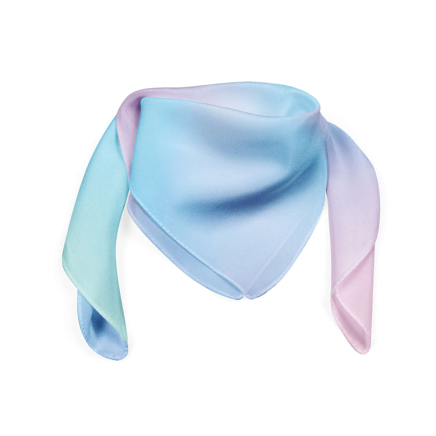 Banana Bandanas Glow bandana blue and pink abstract spread bandana flat photo