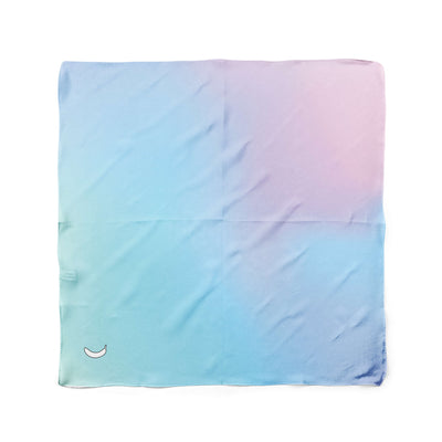 Banana Bandanas Glow dog bandana blue and pink abstract spread dog bandana flat photo