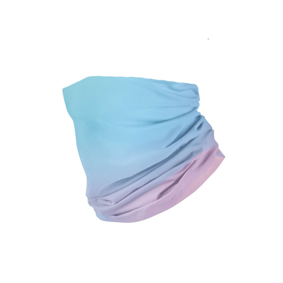 Banana Bandanas Glow headband blue and pink abstract spread headband flat photo