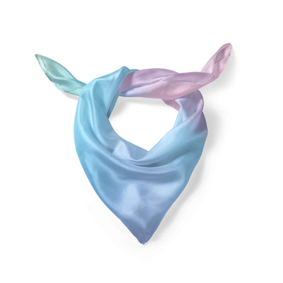 Banana Bandanas Glow overripe dog bandana blue and pink abstract spread overripe dog bandana folded photo