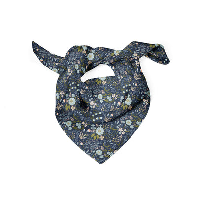 Banana Bandanas Grandmas Garden dog bandana vintage floral illustration dog bandana folded photo