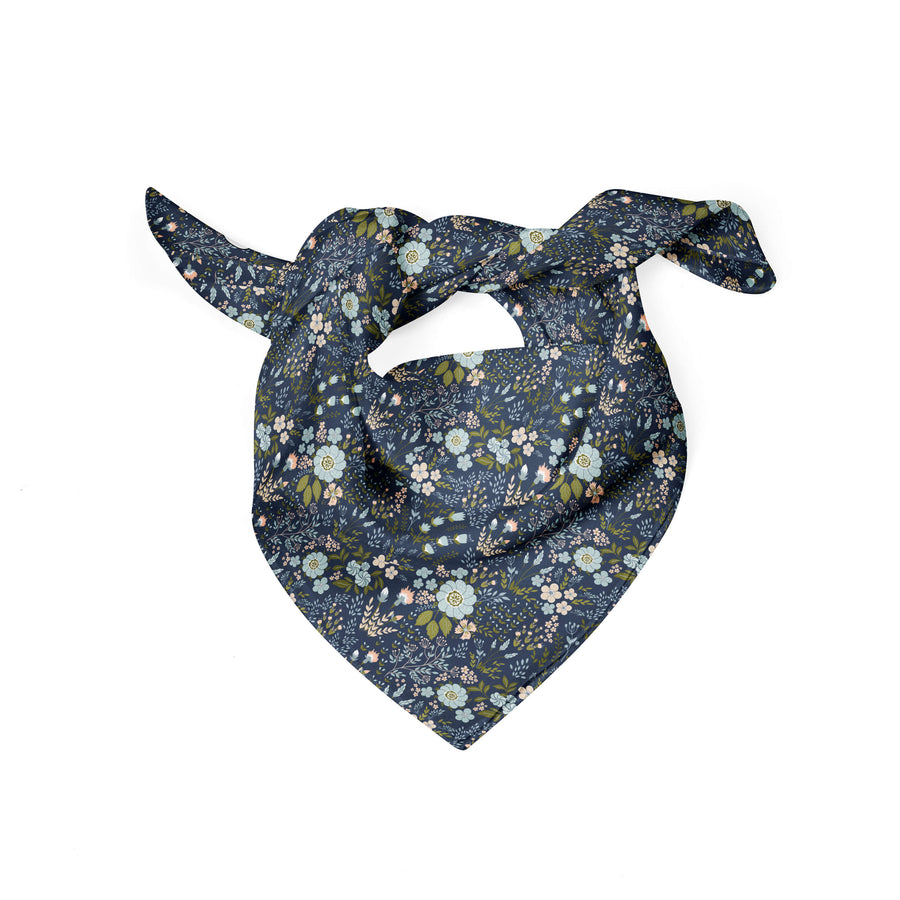 Banana Bandanas Grandmas Garden dog bandana vintage floral illustration dog bandana flat photo