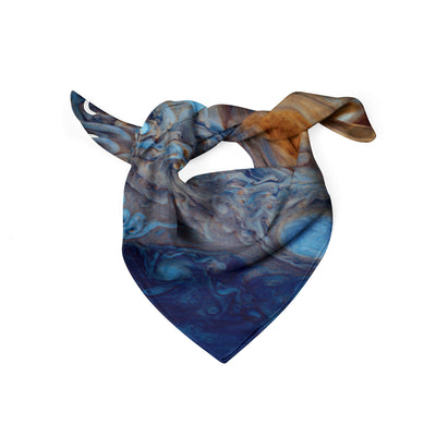 Banana Bandanas Great Red Spot dog bandana Jupiter spread colorful dog bandana folded photo