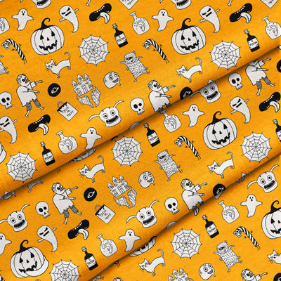 Banana Bandanas hocus pocus bandana cute halloween bandana orange detail photo