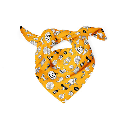 Banana Bandanas hocus pocus dog bandana cute halloween dog bandana orange folded photo