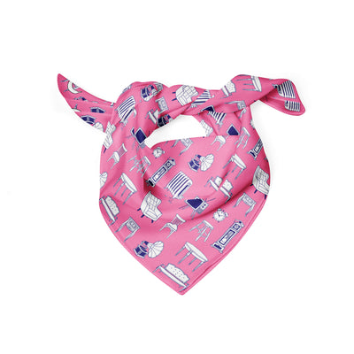 Banana Bandanas Home Sweet Home dog bandana furniture home illustration dog bandana bubblegum pink folded photo