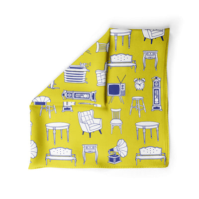 Banana Bandanas Home Sweet Home dog bandana furniture home illustration dog bandana hot mustard alternative photo