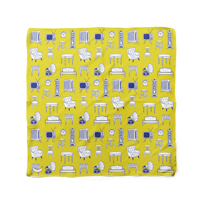 Banana Bandanas Home Sweet Home dog bandana furniture home illustration dog bandana hot mustard flat photo