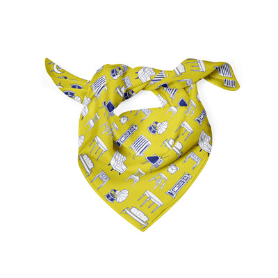 Banana Bandanas Home Sweet Home dog bandana furniture home illustration dog bandana hot mustard folded photo