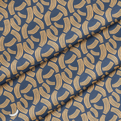 Banana Bandanas Macaroni Salad bandana blue and yellow noodle bandana detail photo
