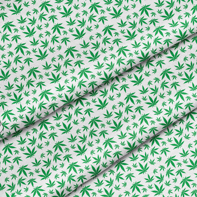 Banana Bandanas Mary Jane Maze dog bandana marijuana weed illustration detail view