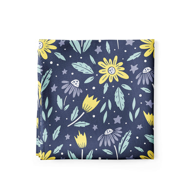 Banana Bandanas Moonflower bandana space floral blue bandana alternative photo