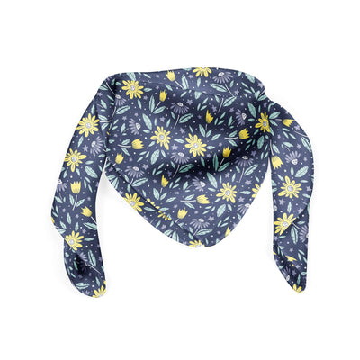 Banana Bandanas Moonflower bandana space floral blue bandana folded photo