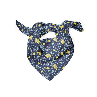 Banana Bandanas Moonflower dog bandana space floral pattern folded photo