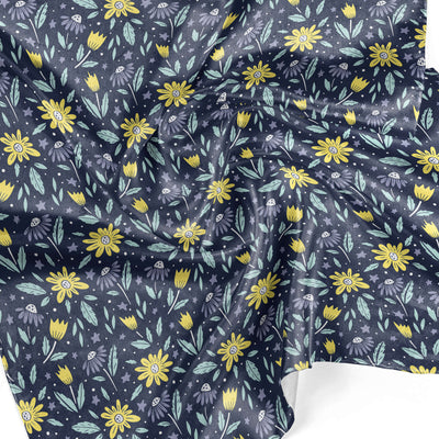 Banana Bandanas Moonflower overripe dog bandana space floral pattern detail photo