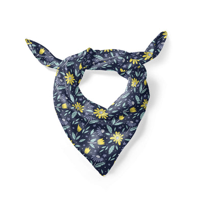 Banana Bandanas Moonflower overripe dog bandana space floral pattern folded photo