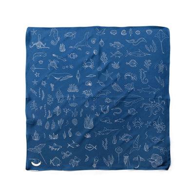 Banana Bandanas Motion in the Ocean dog bandana ocean creatures illustration flat photo