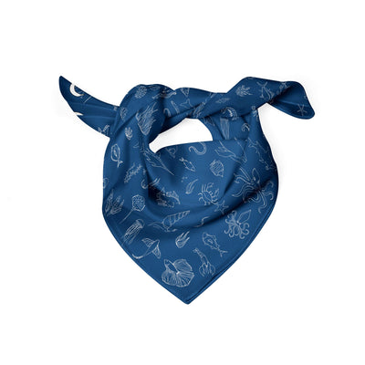 Banana Bandanas Motion in the Ocean dog bandana ocean creatures illustration folded photo