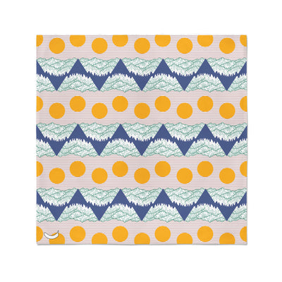 Banana Bandanas Big Pointy Rocks bandana mountain range hiking bandana illustration sunset flat photo