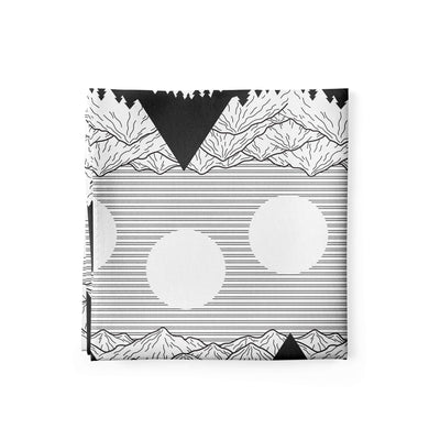 Banana Bandanas Big Pointy Rocks bandana mountain range hiking bandana illustration black and white alternative photo
