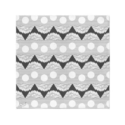 Banana Bandanas Big Pointy Rocks bandana mountain range hiking bandana illustration black and white flat photo