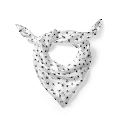 Banana Bandanas My Eyes Are Up Here overripe dog bandana eye icon pattern black and white folded photo
