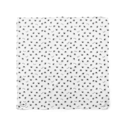 Banana Bandana My Eyes Are Up Here dog bandana eye icon pattern black and white flat photo
