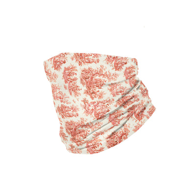 Banana Bandanas Not Your Mothers Toile headband vintage toile spread burnt red flat photo