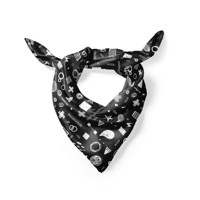 Banana Bandanas Play Time overripe dog bandana hand drawn shape illustrations overripe dog bandana chalkboard folded photo