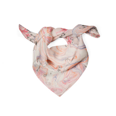 Banana Bandanas Pink Haze dog bandana marble spread funky pink dog bandana folded photo