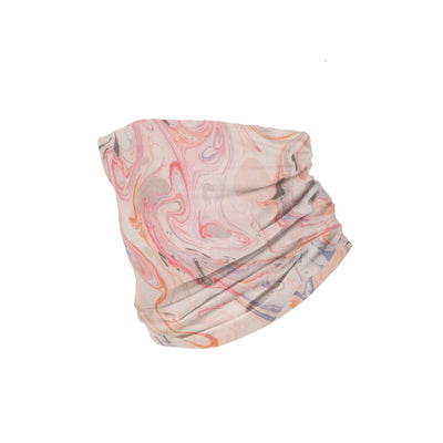 Banana Bandanas Pink Haze headband marble spread funky pink headband folded photo