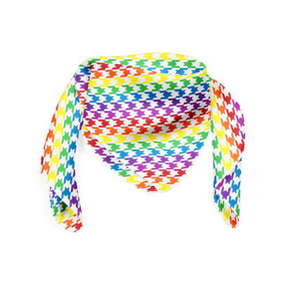Banana Bandanas Rainbow Houndstooth bandana pride pattern folded photo