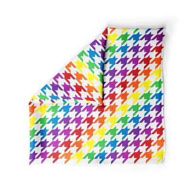Banana Bandanas Rainbow Houndstooth dog bandana pride pattern alternative photo