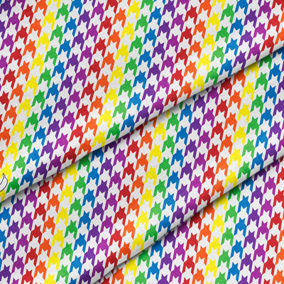 Banana Bandanas Rainbow Houndstooth dog bandana pride pattern detail photo