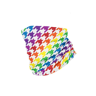 Banana Bandanas Rainbow Houndstooth headband pride pattern folded photo