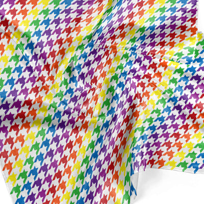 Banana Bandanas Rainbow Houndstooth overripe dog bandana pride pattern detail photo