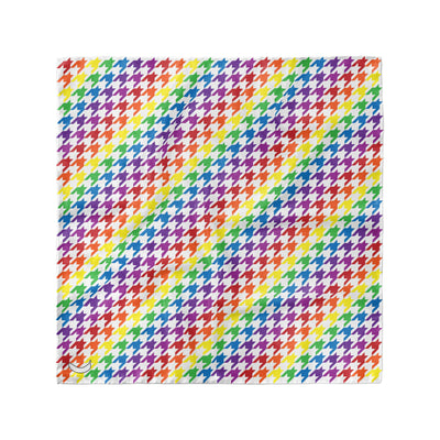 Banana Bandanas Rainbow Houndstooth overripe dog bandana pride pattern flat photo