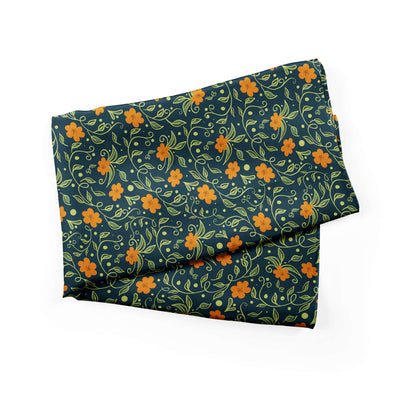 Banana Bandanas Secret Garden bandana green and orange floral illustration bandana alternative photo