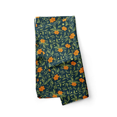 Banana Bandanas Secret Garden dog bandana green and orange floral illustration dog bandana alternative photo