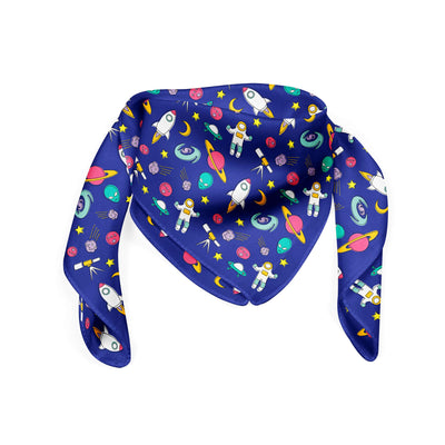 Banana Bandanas Space Explorer bandana space illustration blue folded photo