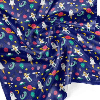 Banana Bandanas Space Explorer overripe dog bandana space illustration detail photo