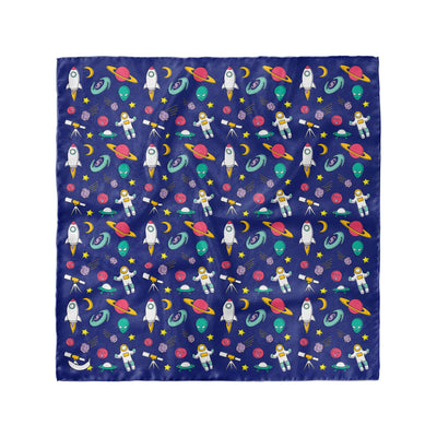 Banana Bandanas Space Explorer overripe dog bandana space illustration flat photo