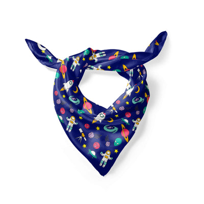 Banana Bandanas Space Explorer overripe dog bandana space illustration folded photo