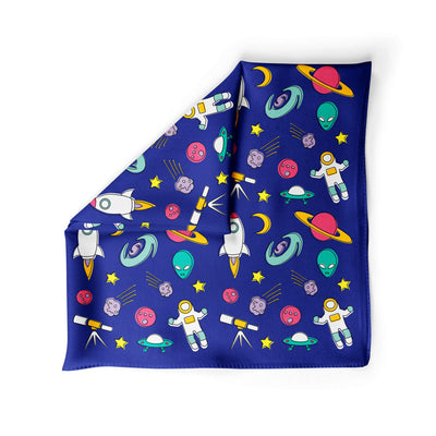Banana Bandanas Space Explorer dog bandana space illustration blue alternative photo