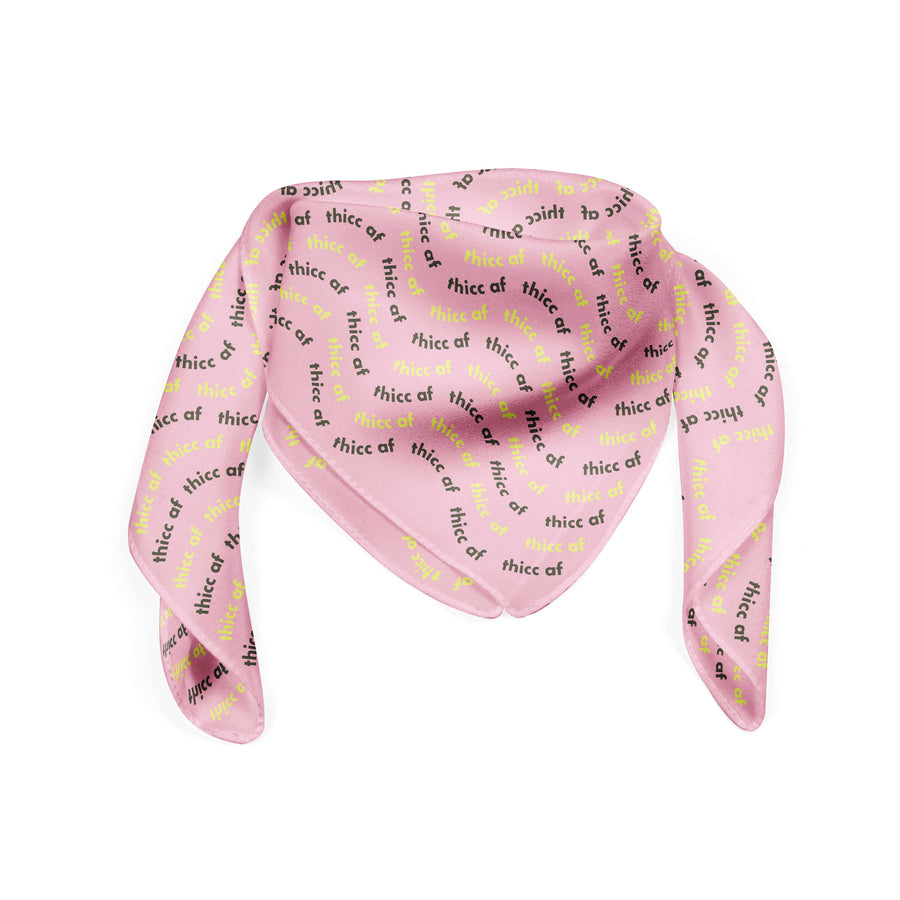 Banana Bandanas Thicc AF bandana thick as fuck pink pattern flat photo